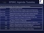epsrc agenda tuesday
