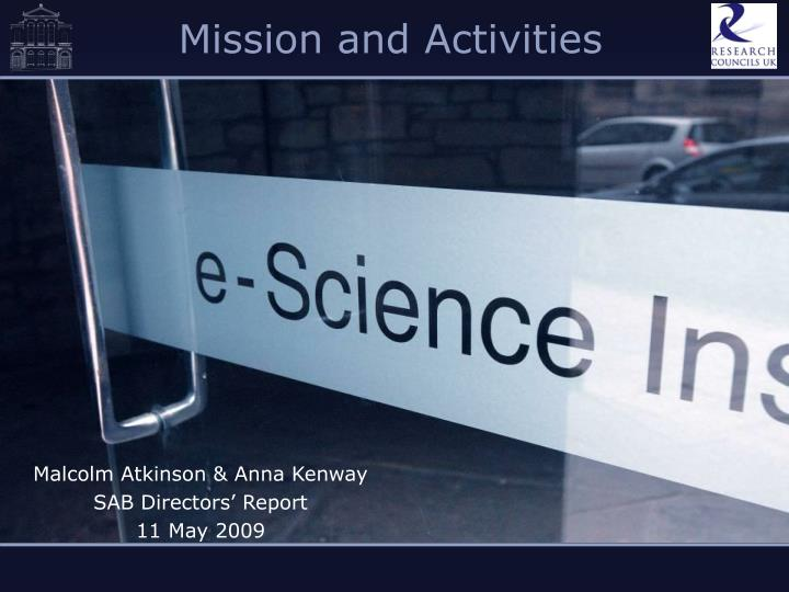 mission and activities