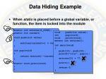 data hiding example