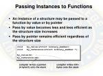 passing instances to functions