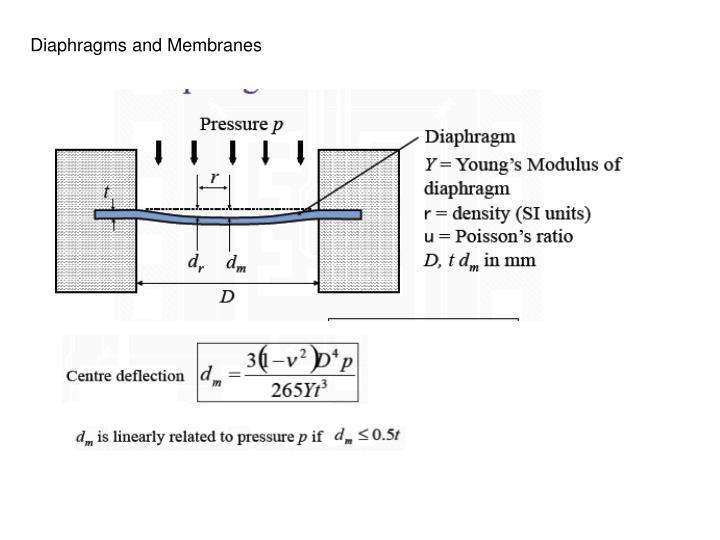 Diaphragms and Membranes