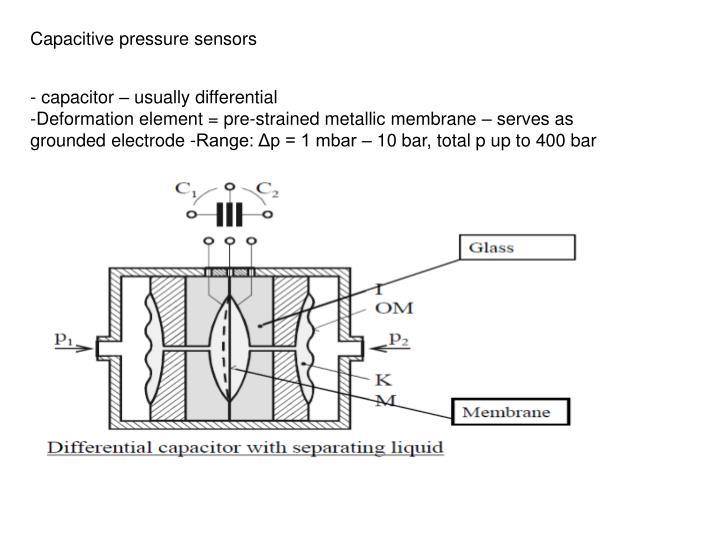 Capacitive pressure sensors