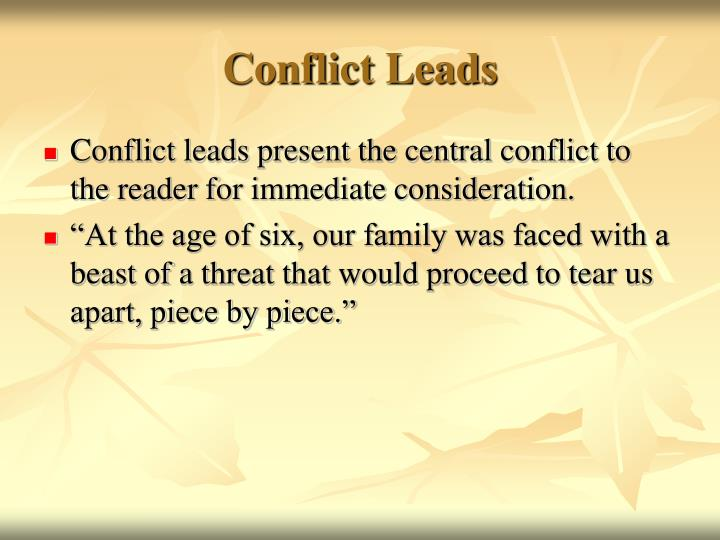 Conflict Leads