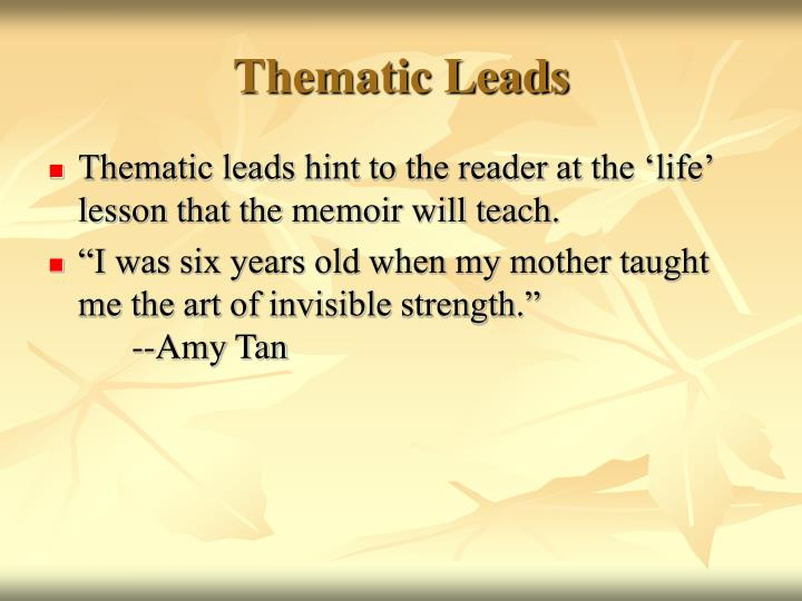Thematic Leads