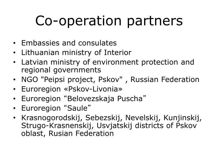 Co-operation partners