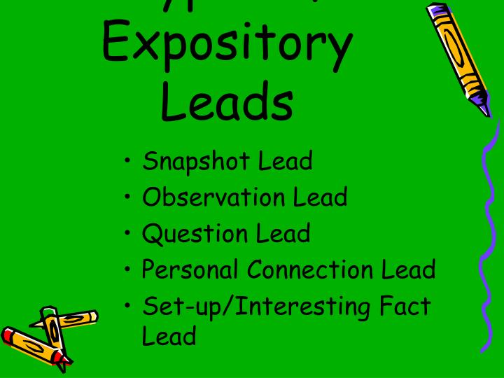 Different Types of Expository Leads