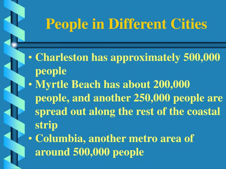 People in Different Cities