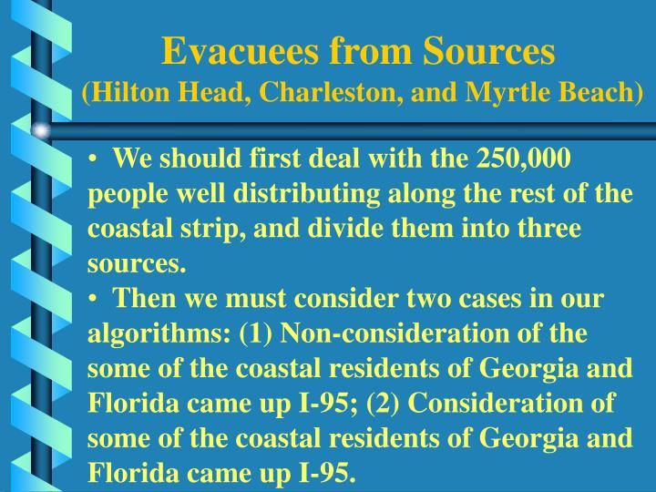 Evacuees from Sources