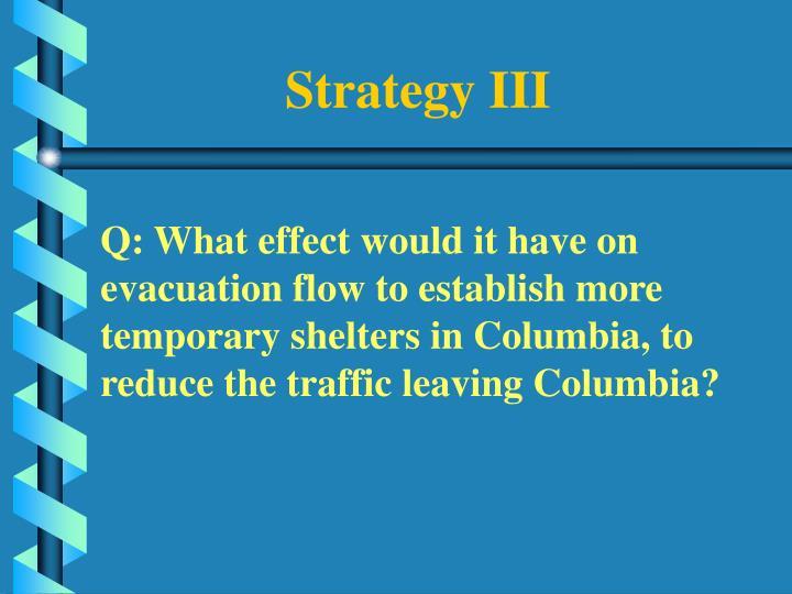 Strategy III