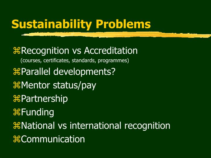 Sustainability Problems