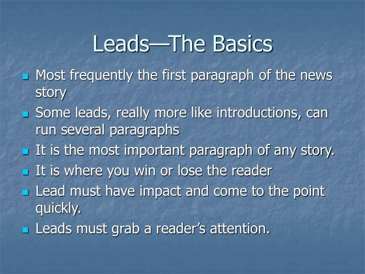 Leads the basics