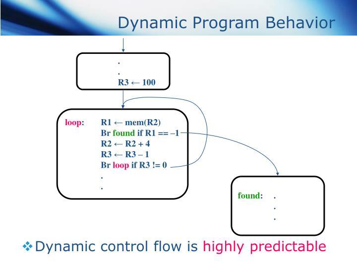 Dynamic Program Behavior