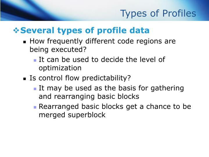 Types of Profiles