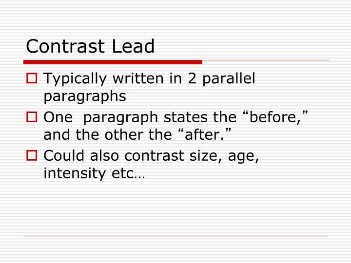 Contrast Lead