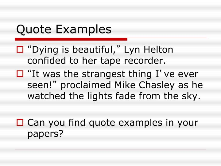 Quote Examples