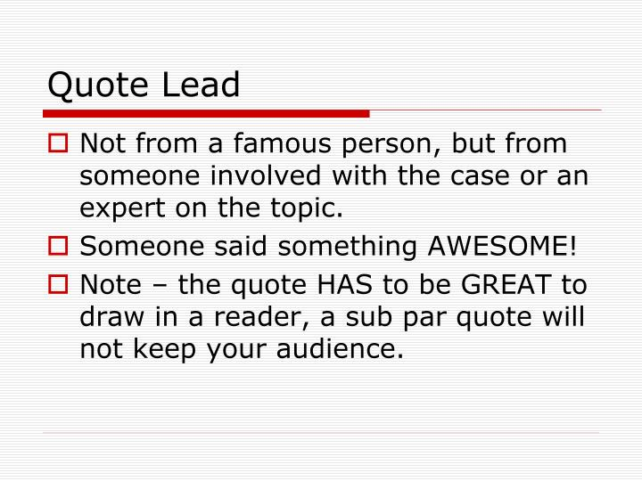 Quote Lead