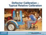 deflector calibration typical relative calibration