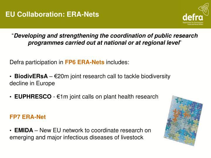 EU Collaboration: ERA-Nets