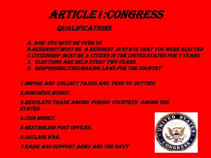 Article1 congress