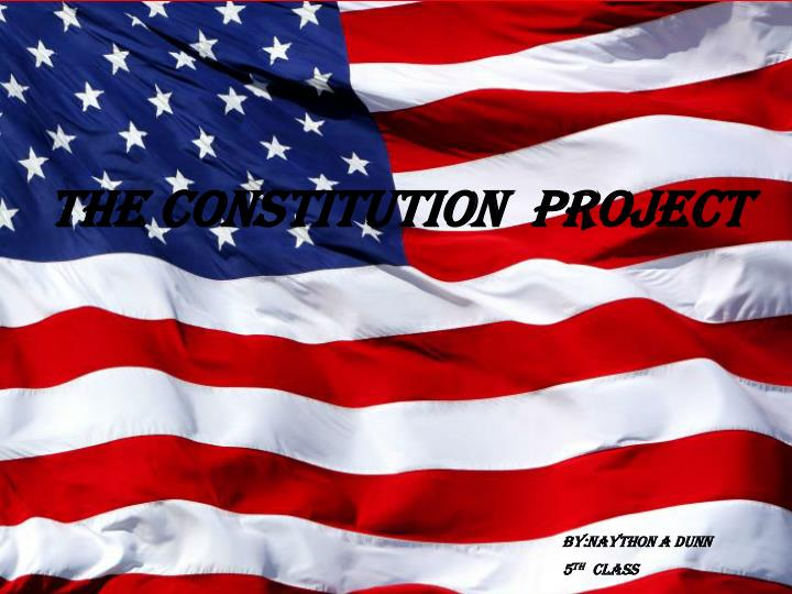 THE CONSTITUTION  PROJECT
