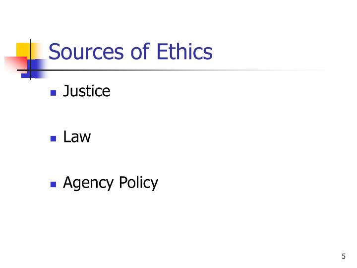 Sources of Ethics