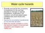 water cycle hazards