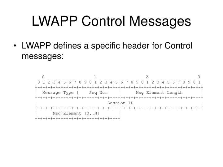 LWAPP Control Messages