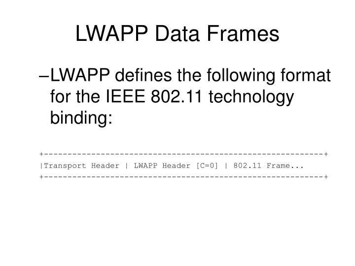 LWAPP Data Frames