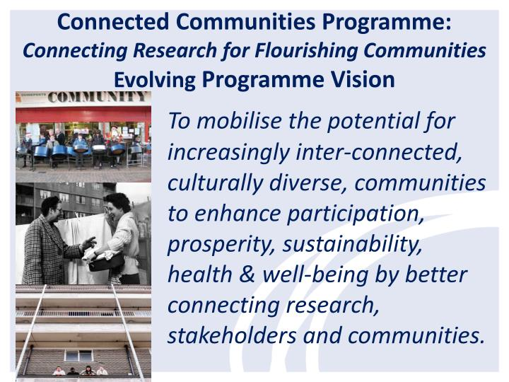 Connected Communities Programme: