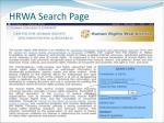 hrwa search page