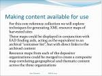 making content available for use2