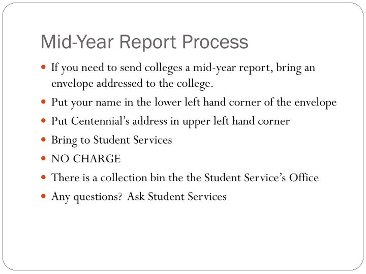 Mid-Year Report Process