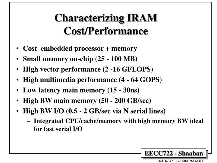 Characterizing IRAM