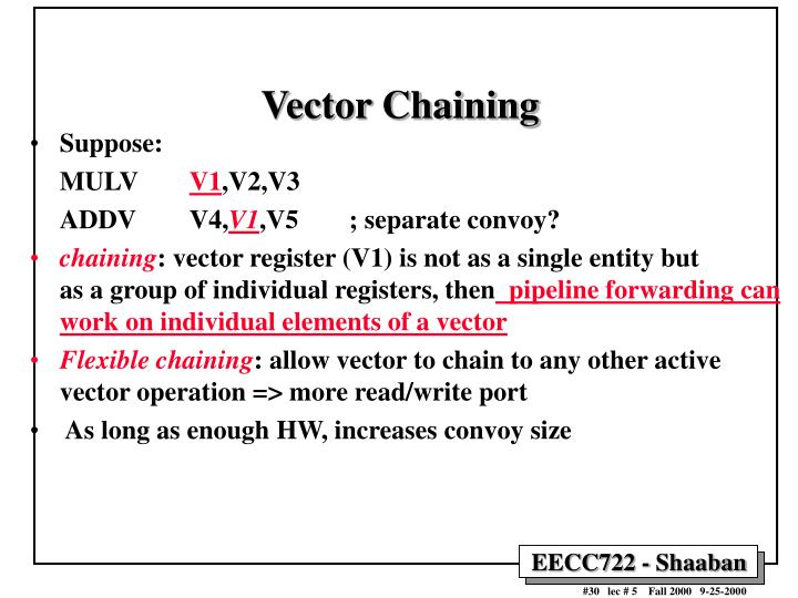 Vector Chaining
