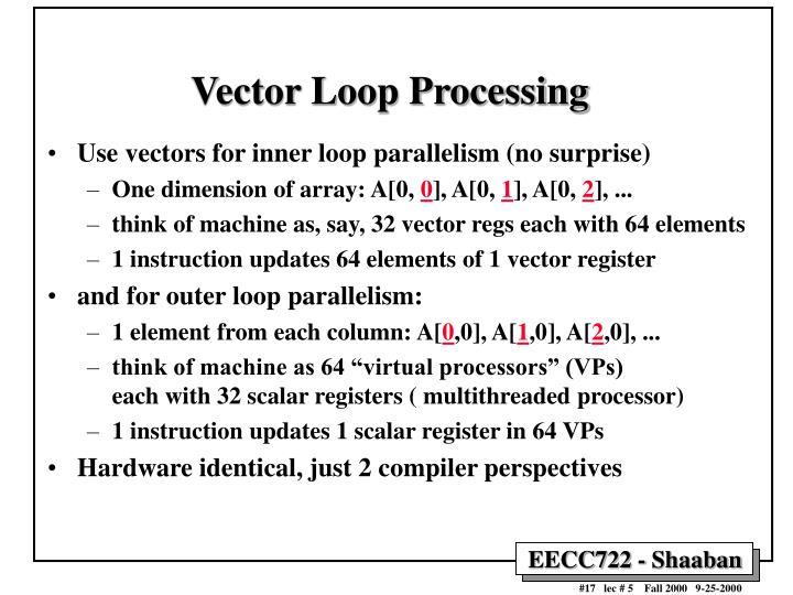 Vector Loop Processing