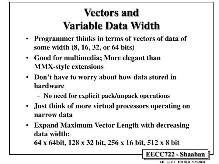 Vectors and