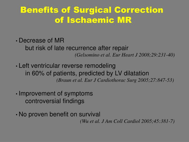 Benefits of Surgical Correction