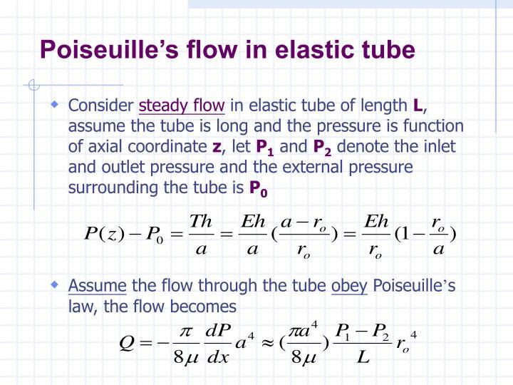 Poiseuille's flow in elastic tube