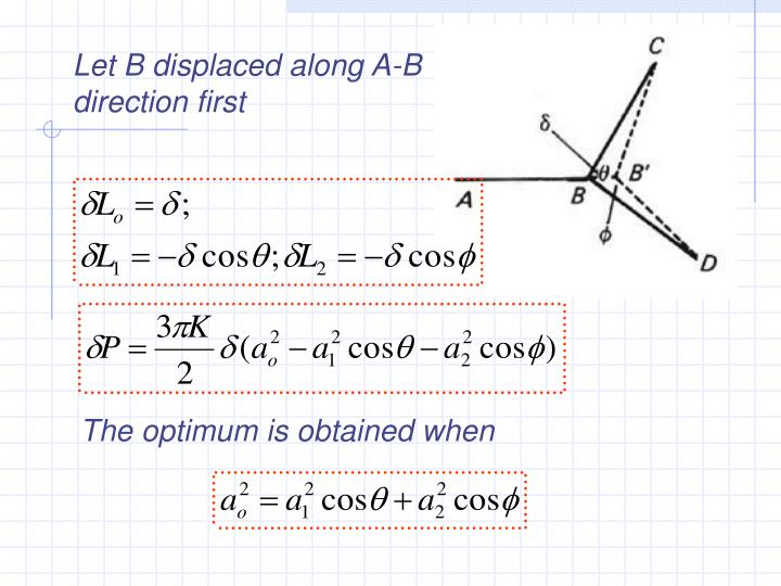 Let B displaced along A-B direction first