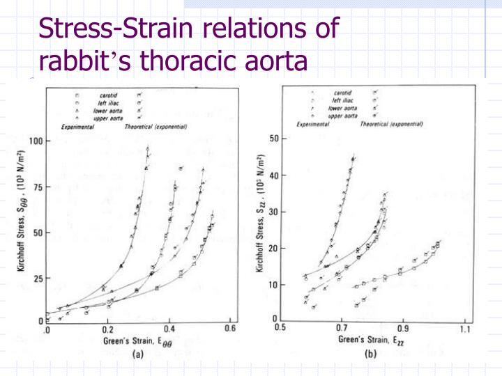 Stress-Strain relations of