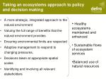 taking an ecosystems approach to policy and decision making