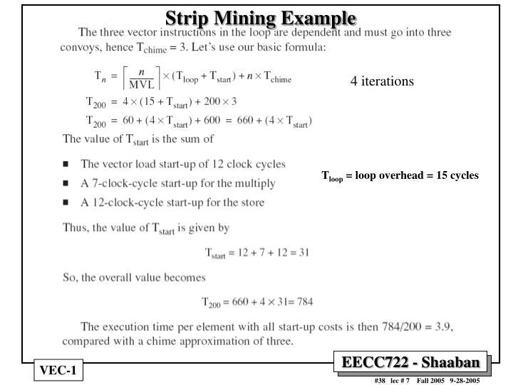Strip Mining Example