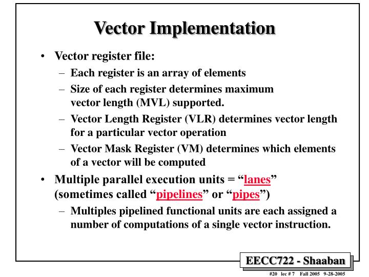 Vector Implementation