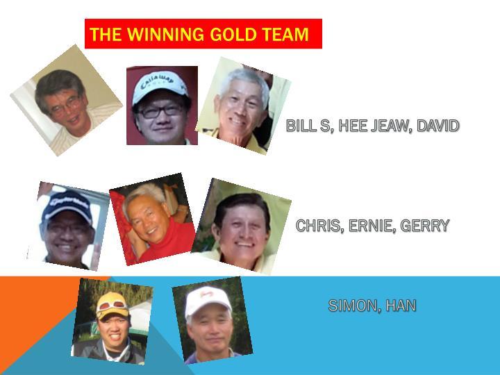 The winning gold team