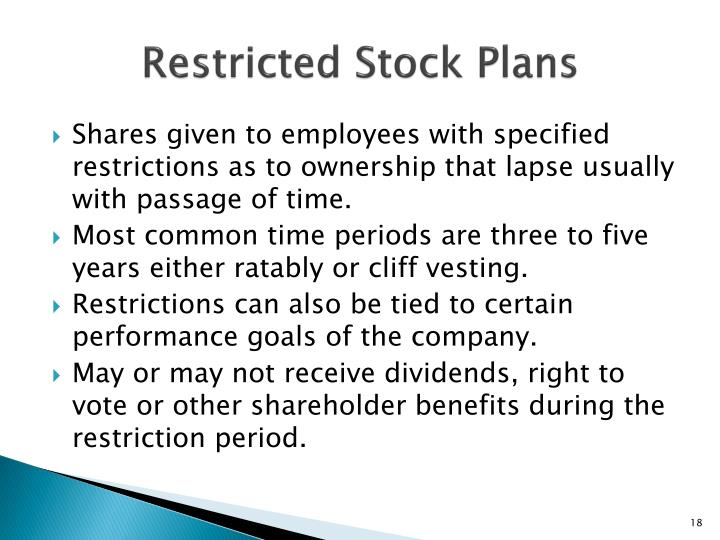 Restricted Stock Plans