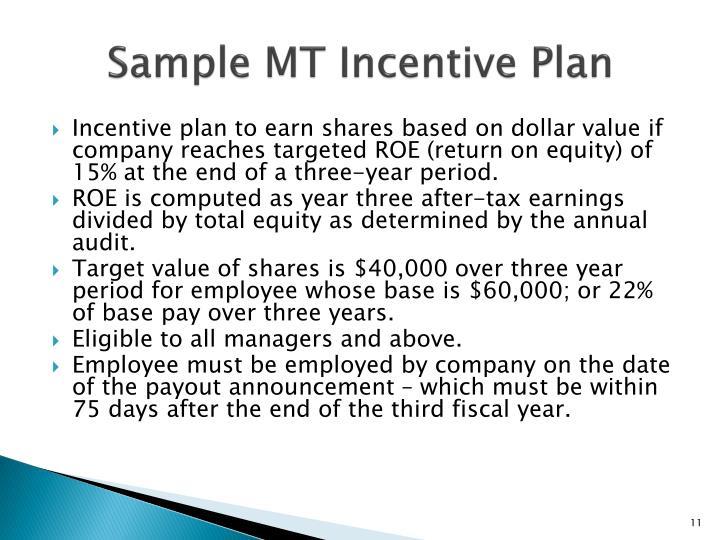 Sample MT Incentive Plan