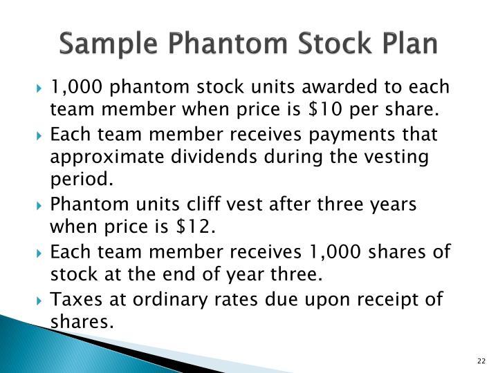 Sample Phantom Stock Plan