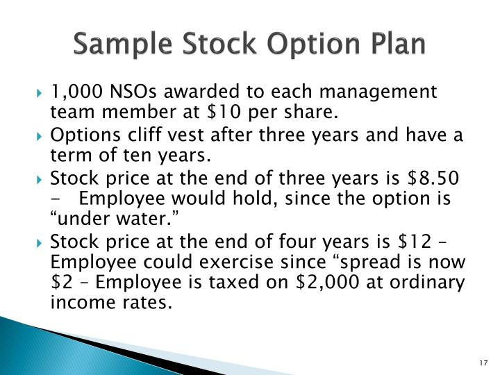 Sample Stock Option Plan