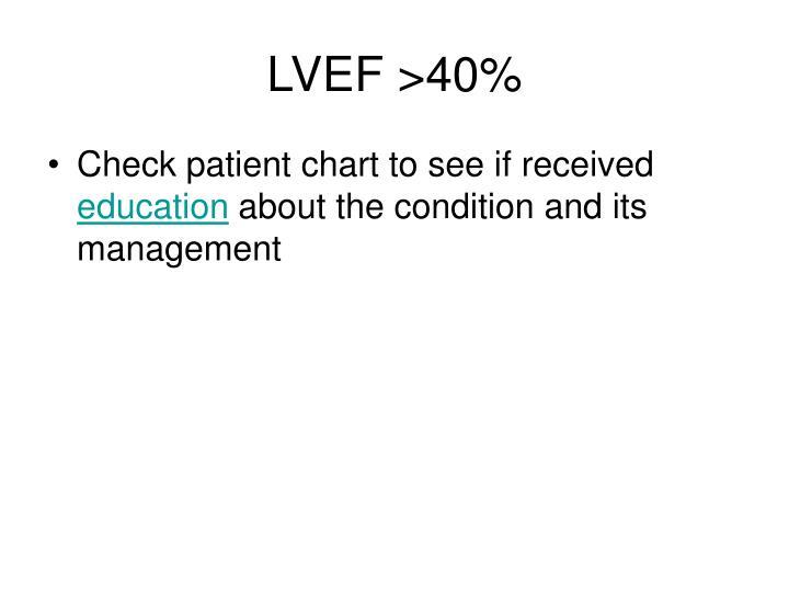 LVEF >40%