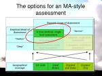 the options for an ma style assessment1